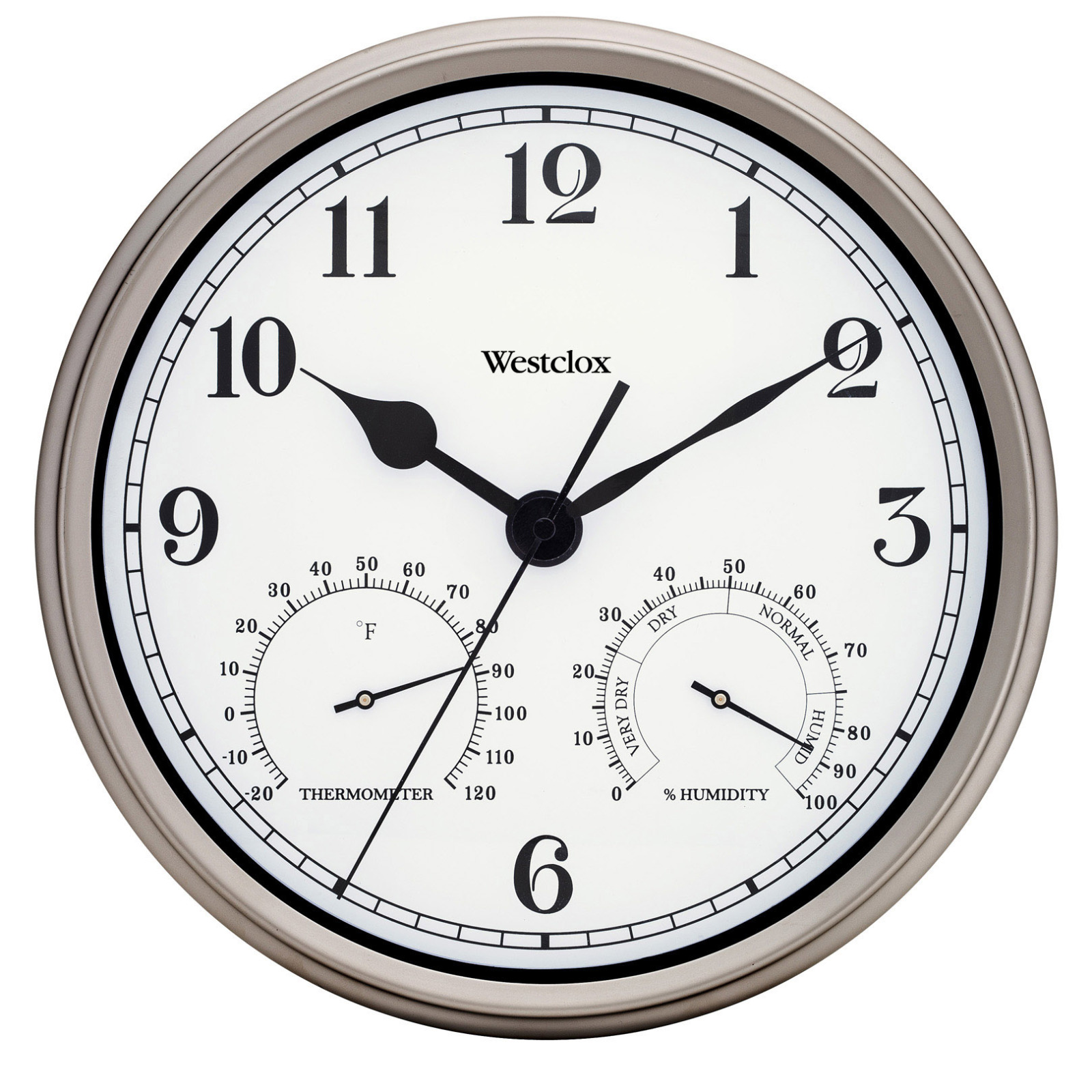 "49832- Westclox 12"" Metal Indoor/Outdoor Wall Clock"