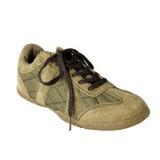 Women's Sage Green Suede Quilted Sneaker Shoes - Size 9