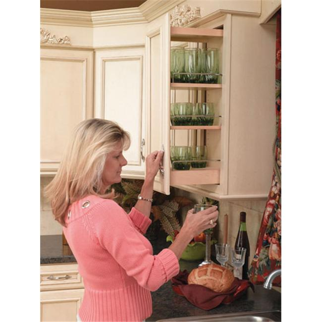 Rev-A-Shelf RS448. WC. 8C 8 inch Wall Pullout Shelving System  Wood