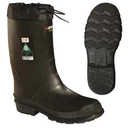 Baffin Size 6 Steel Toe Pac Winter Boots, Men's, Black, 85740000