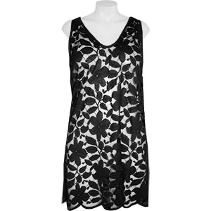 J Valdi Floral Lace Hooded Tank Cover Up
