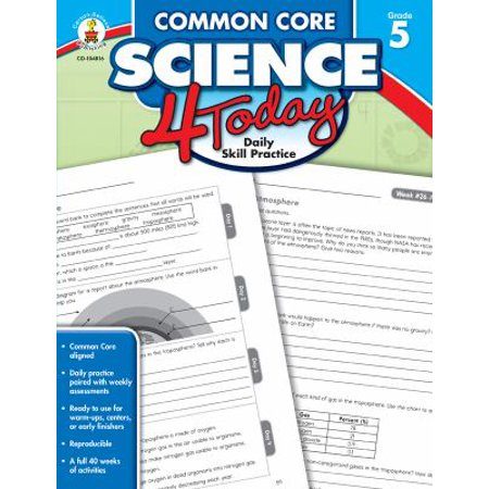 Image of Common Core Science 4 Today, Grade 5: Daily Skill Practice
