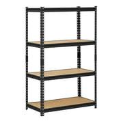 """Muscle Rack 36""""W x 18""""D x 60""""H Four-Shelf Steel Shelving, Black"""