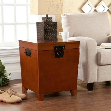 Southern Enterprises Pyramid Trunk End Table, Multiple Finishes