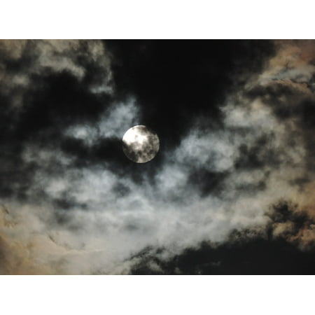 LAMINATED POSTER Moonlight Moon Dark Sky Night Clouds Light Poster Print 24 x