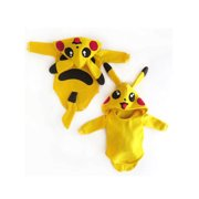 Toddler Baby Girl Boy Pokemon Pikachu Rompers Jumpsuit Outfits Cosplay Costume Christmas Gifts