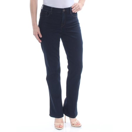 STYLE & COMPANY Womens Navy Pocketed Zippered Straight leg Jeans  Size: 4