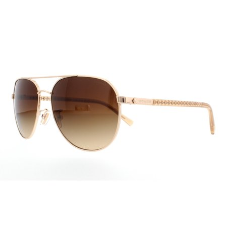 b8a88e618 Coach - COACH Sunglasses HC 7053 922713 Gold/ Crystal Brown 58MM -  Walmart.com