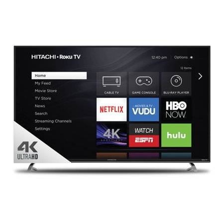 "Refurbished Hitachi 65"" Class 4K (2160P) Roku Smart LED TV (65R8)"