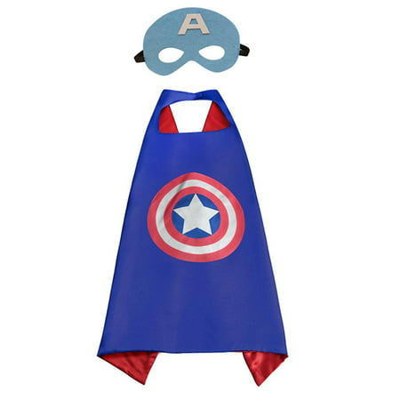 Marvel Comics Costume - Captain America Cape and Mask with Gift Box by Superheroes - Captian America Mask
