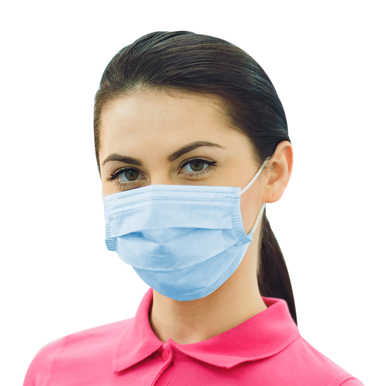 blue disposable earloop face mask