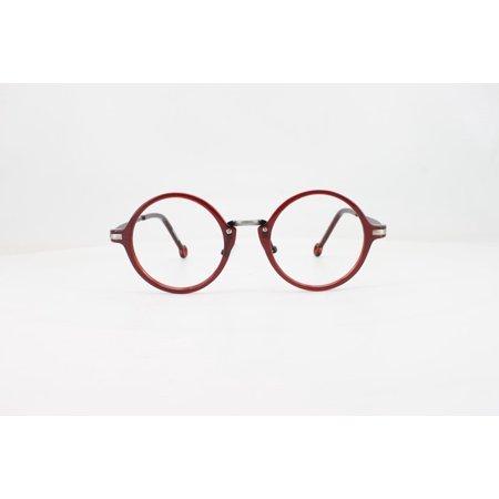 Unisex Eyeglass Frame - EBE unisex regular hinge TR-90 full Rim round burgundy Frames Eyeglasses ckb8237 ckb8237
