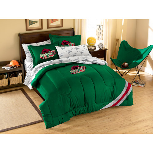 NCAA Applique Bedding Comforter Set with Sheets, Washington State