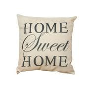 Baohd Cotton Linen Pillow Case Sofa Waist Throw Cushion Cover With Letter