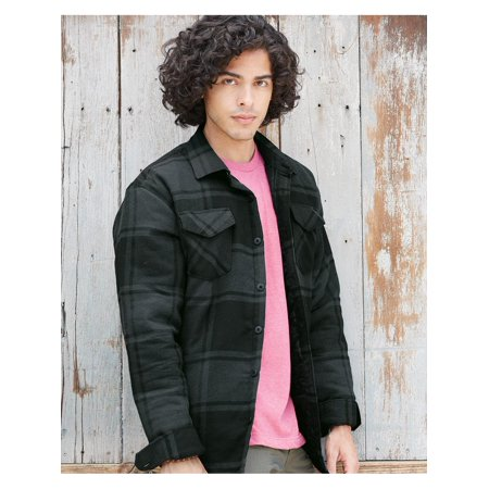 Charcoal Dressy Coat (Burnside Outerwear Quilted Flannel)