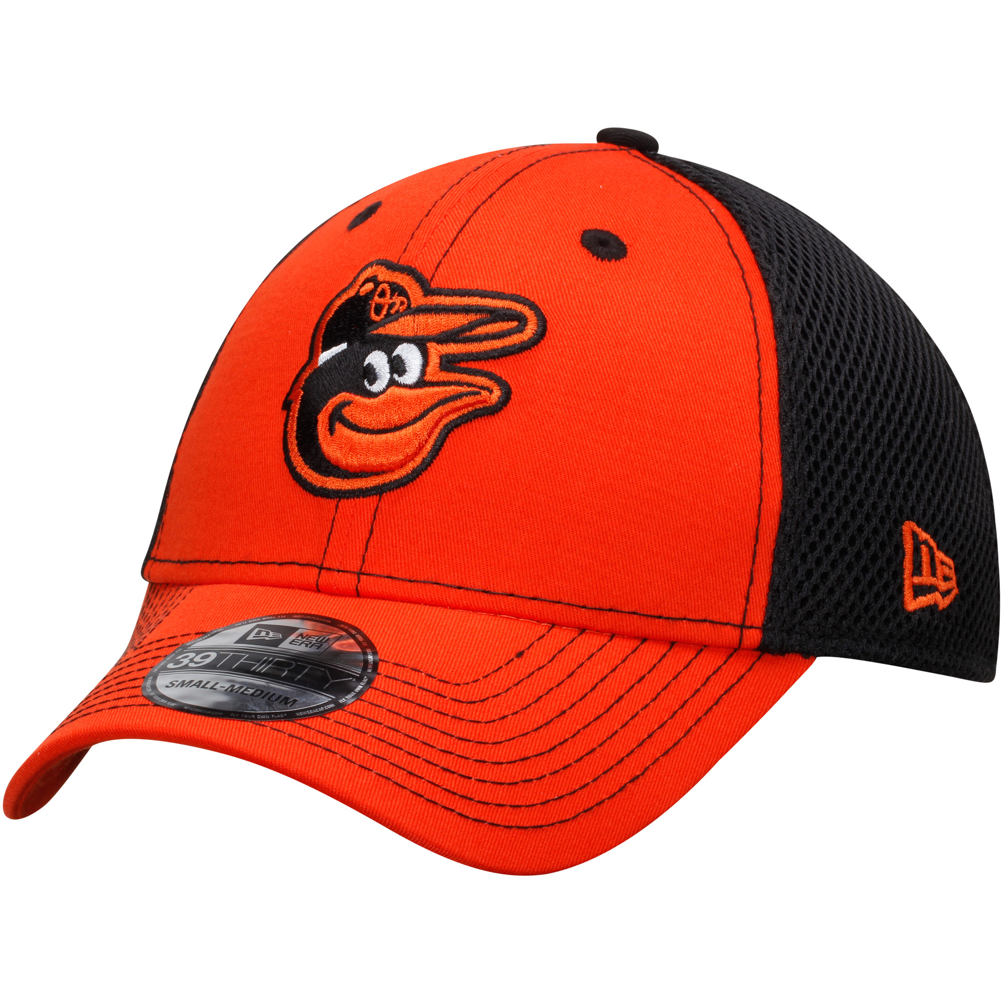 Baltimore Orioles New Era Team Front Neo 39THIRTY Flex Hat - Orange/Black