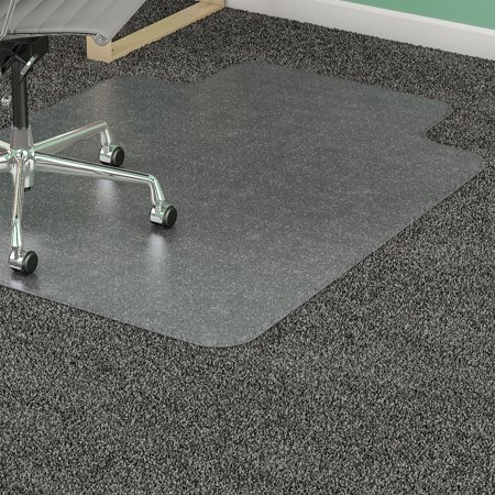 Lorell Chair Mat for Medium Pile Carpet, Rectangular with Lip