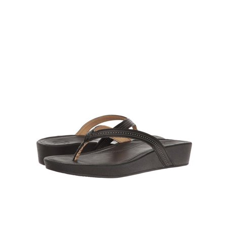 f8a361f8d3bb84 OluKai - OluKai Ola Women s Leather Wedge Sandals 20322-4040 - Walmart.com