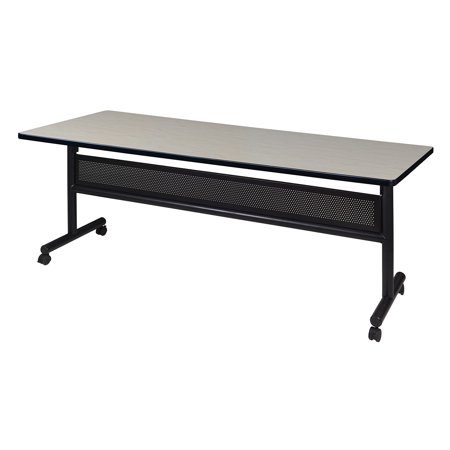 "Kobe 72"" x 30"" Flip Top Mobile Training Table with Modesty- Maple"