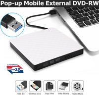 External USB 2.0/3.0 DVD RW CD Writer Slim Drive Burner Reader Player for PC Laptop