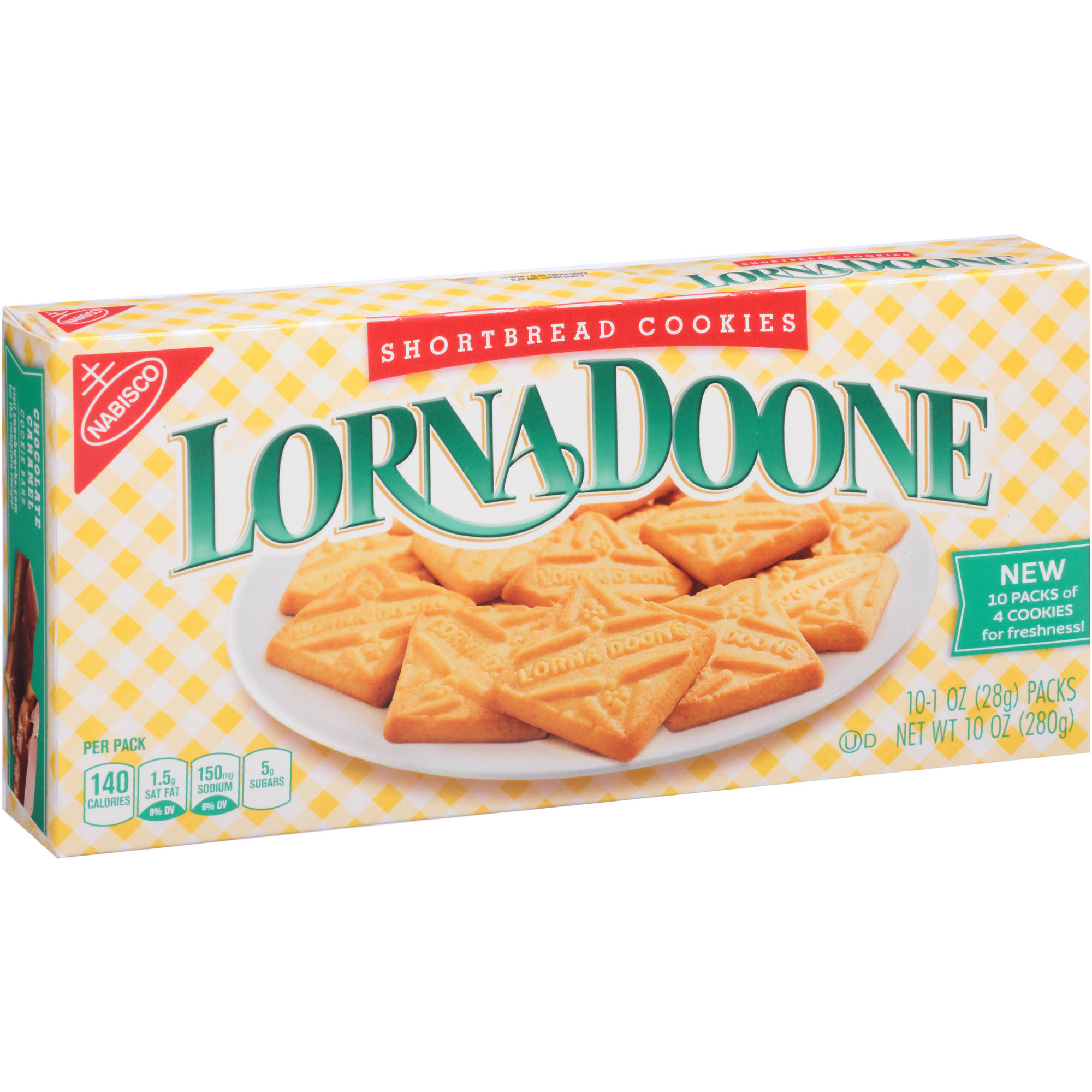 Nabisco Lorna Doone Shortbread Cookies, 1 oz, 10 count