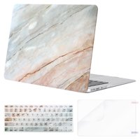 Mosiso Plastic Hard Case with Keyboard Cover with Screen Protector for MacBook Air 13 Inch (Models: A1369 & A1466,2010-2017 Year), Colored Striped Marble