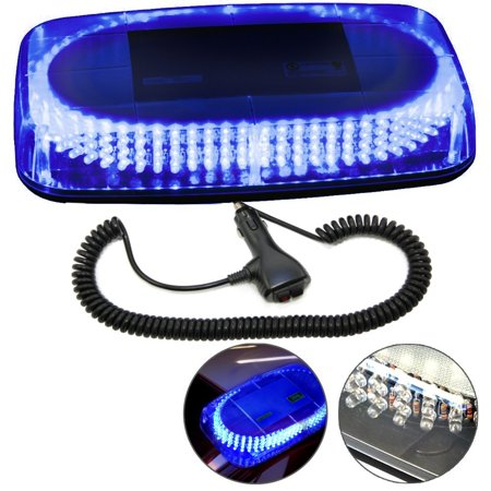 Hqrp 240 led mini light bar blue light hazard warning emergency hqrp 240 led mini light bar blue light hazard warning emergency strobe light with magnetic aloadofball Image collections