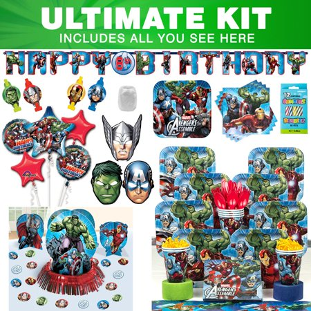 Avengers Ultimate Kit (Serves 8) - Party Supplies