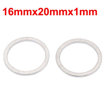 50Pcs Motorcycle Hardware 16mmx20mmx1mm Aluminum Drain Plug Washer