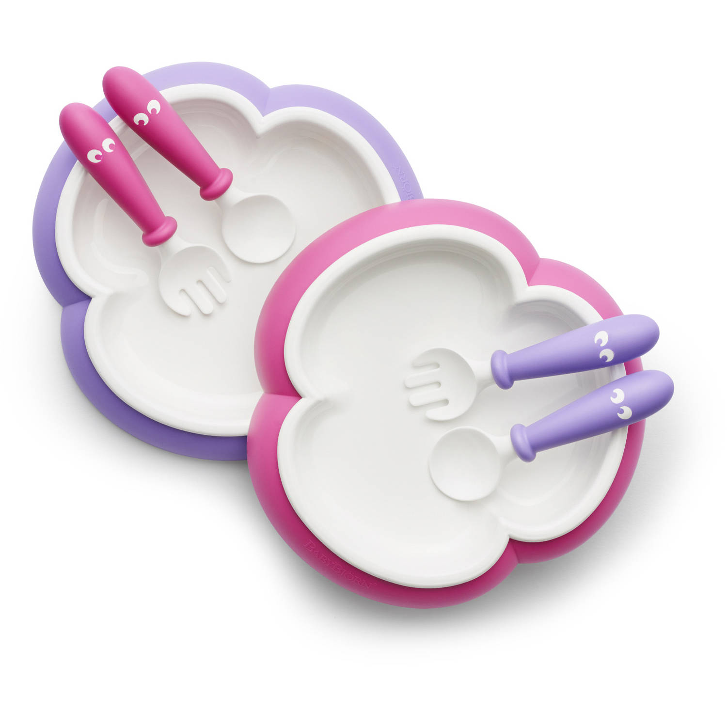 BabyBjorn Baby Plate, Spoon and Fork, 2pk by BabyBj%C3%B6rn