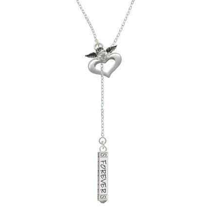 Forever Bar - Guardian Angel Lariat Necklace - Guardian Angel Necklace