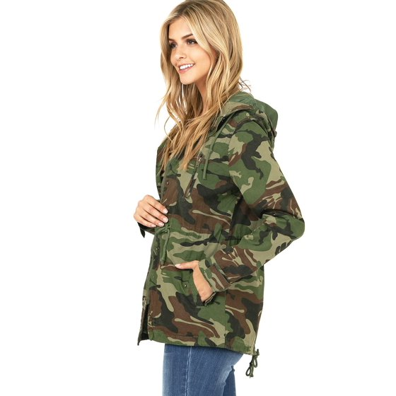 3598aa87fe Ambiance Apparel - Ambiance Apparel Women s Cargo Style Camouflage Hooded  Jacket (S) - Walmart.com