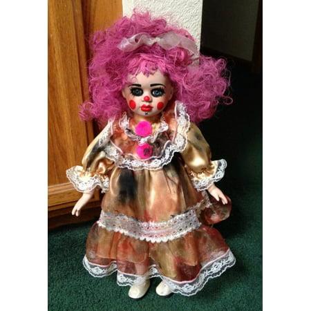 Raggedy Ann Pink Hair Clown Circus Sideshow Creepy Horror Doll by - Clown Dolls