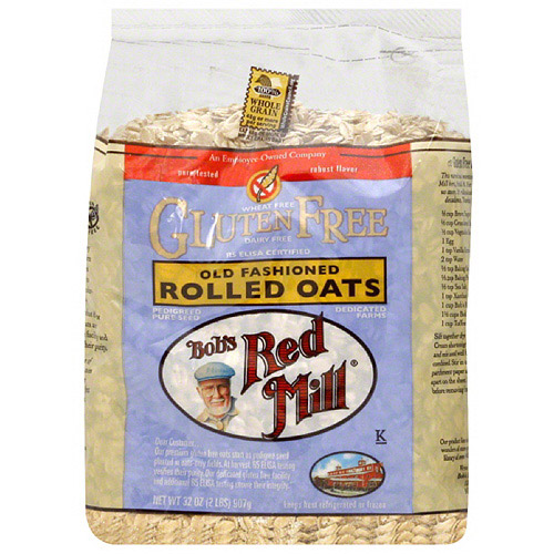 Bob's Red Mill Gluten Free Old Fashioned Rolled Oats, 32 oz, (Pack of 4)