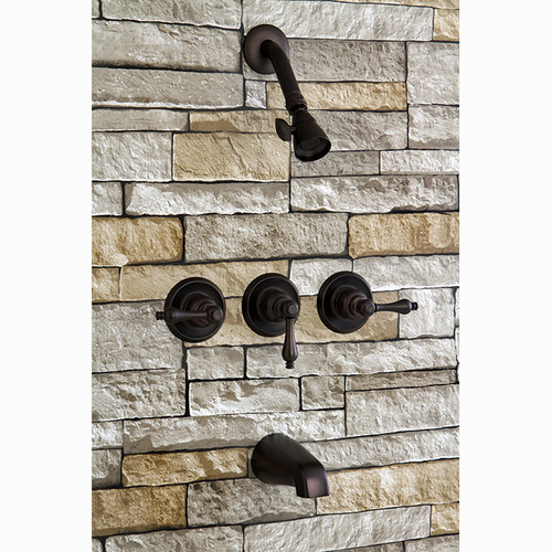 Kingston Brass  KB23.AL  Tub and Shower  Magellan  Faucet  Triple Handle  ;Oil Rubbed Bronze