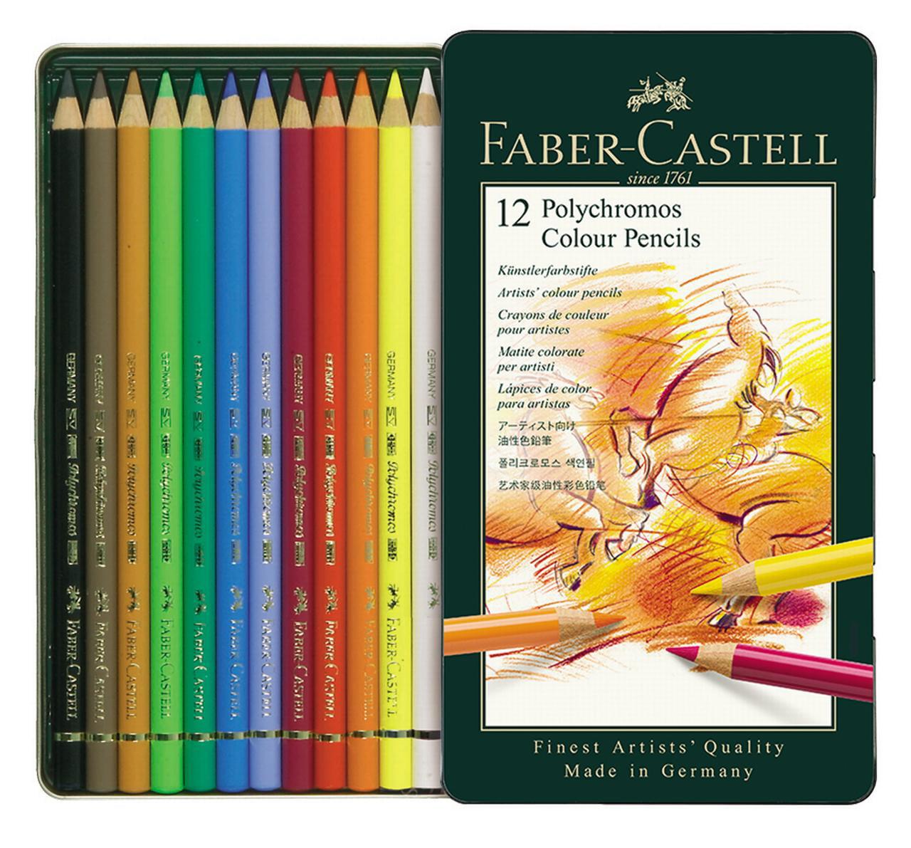 faber castell polychromos color pencils 12 colored pencils