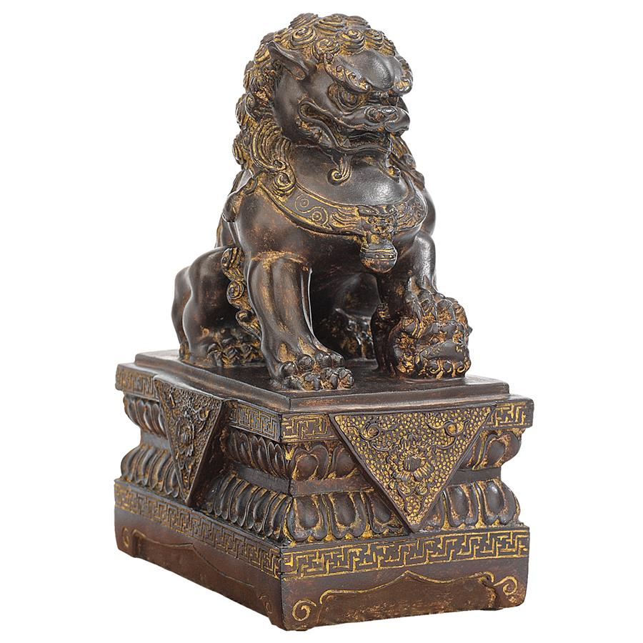 Design Toscano Chinese Guardian Lion Foo Dog Statue: Female