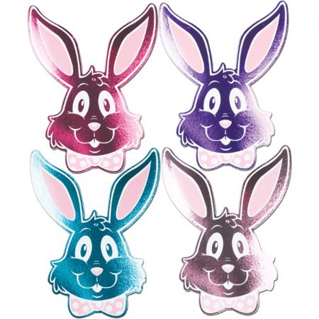 Foil Bunny Silhouettes Assortment Printed 2 Sides 15