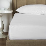 GHP 4-Pcs White 60 x80 x9 Percale Poly Cotton Queen Size Hotel Fitted Bed Sheet