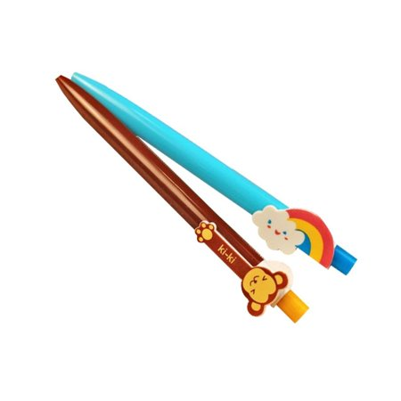 6Pcs Pen Stationery Cute Cartoon Animal Rainbow Ballpoint Pen - Rainbow Pens