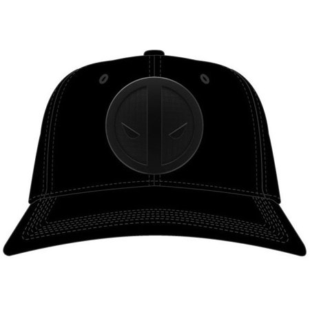 Deadpool Insignia Ball Cap, Marvel Anti-Hero Black Patch Logo, Dad Hat](Deadpool Hat)