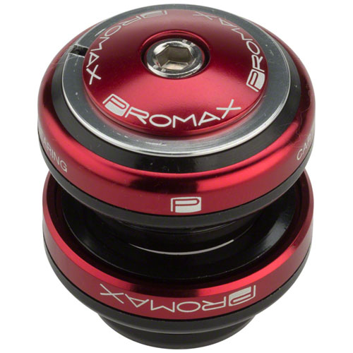 """Promax PI-2 Steel Sealed Bearing 1-1/8"""" Press in Headset Red"""