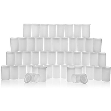 35mm Plastic White Film Canister with Lids, Pack of 50. Perfect for Alka-Setzer Rockets, Geocaching - Plastic Caster