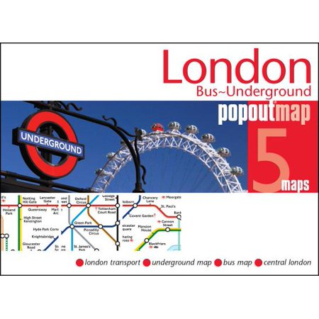London bus & underground popout map: (Best London Underground Stations)