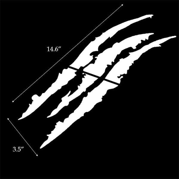 Reflective Black Headlight Eye Scar or Claw Scratch Shape Vinyl Decal Set For Car Truck SUV 1 iJDMTOY