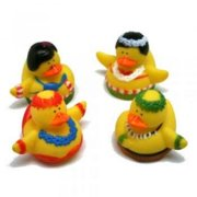 Hula Dance Rubber Duckies - Party Favors - 12 Pieces