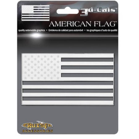 Cruiser Accessories 3D-Cals American Flag, Chrome Cruiser Chrome Mirror Covers
