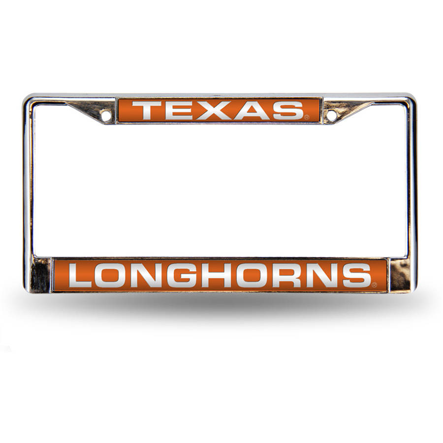 NCAA Texas Chrome Laser License Plate Frame