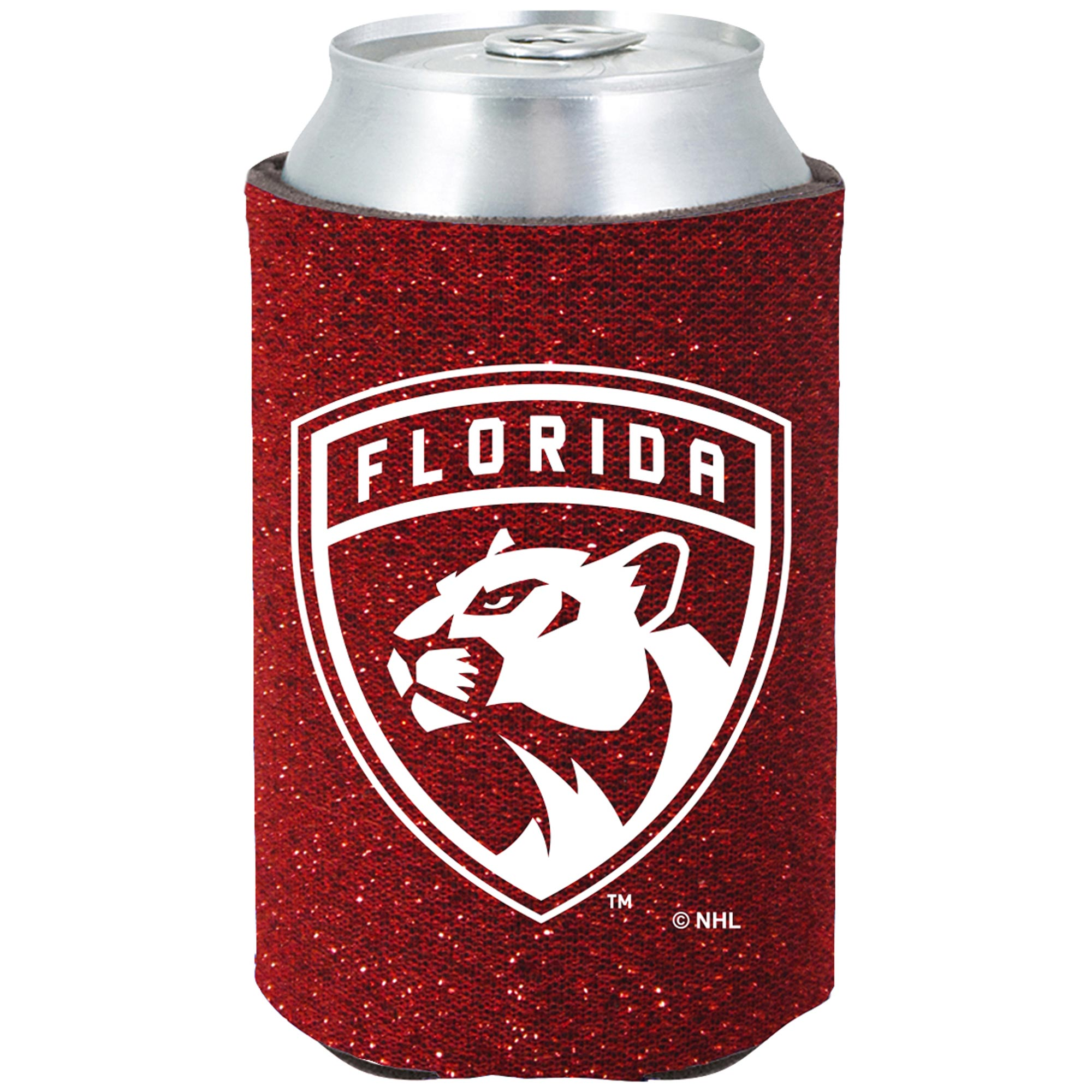 Florida Panthers Glitter Pocket Can Cooler - No Size