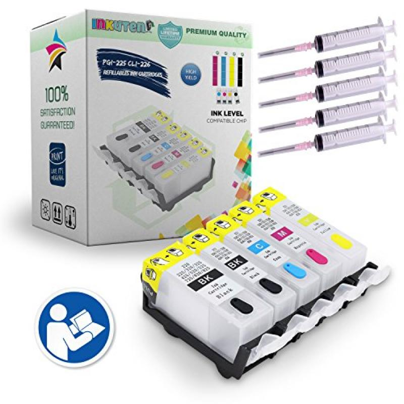 HP INKUTEN 5 (Empty) Refillable Cartridges for PGI-225 CL...
